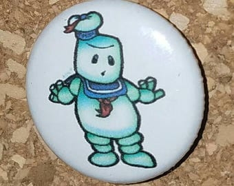 """I Ain't Afraid of No Marshmallow, 1"""" Pin, Pinback Button, your choice of black, white, or green"""