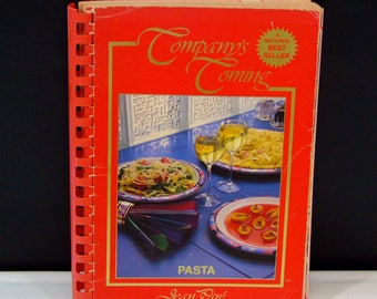 Pasta Cookbook Company's Coming  Jean Pare Recipes Spiral Bound First Edition Book Delicious Pasta Dishes