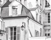 Paris Black and White Photograph - Classic buildings in the Marais, Architectural Fine Art Photograph, Urban Home Decor, Wall Art