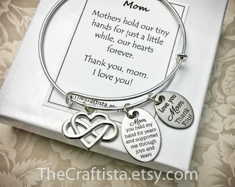 MOM2, Mother Bangle, Mom Gifts, Mom Bangle, Mother Jewelry, Gifts for Mom, Mom Adjustable Bangle, Mom Charm, Mother's Day Gifts, Mommy Gifts