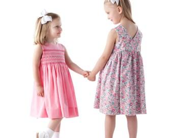 Childrens Corner Pattern / Mary De Pattern / Smocked Dress Pattern / Jumper Pattern / Wrapped Back / Updated / Children's Corner  #67