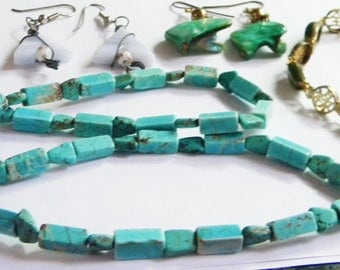 Lot Of jewelry Items- Dragon- Earrings and Bracelet Plus Necklace