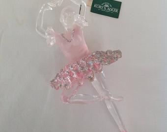 Vintage Ballerina Ornament, Ballerina Christmas ornament, Plastic Ballerina Ornament
