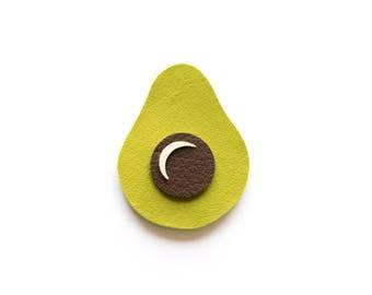 AVOCADO BROOCH, vegetable brooch