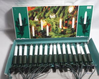 Hellum 16 Clip-on Electric Candle Light Strand Christmas Lights Germany Weihnachtsbeleuchtung Krazen -2