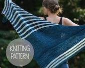 knitting pattern knit spring striped shawl - the waters edge shawl
