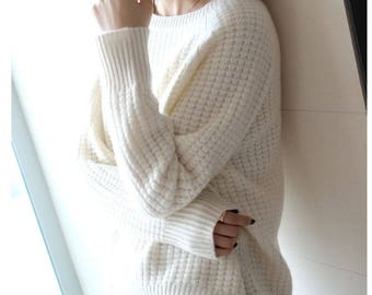 womens winter Cashmere sweaters and auntmun women knitted Pullovers High Quality Warm Female Oneck Solid Casual