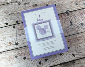Disney Wedding Invitations, Disney, Wedding Invitations, Fairy Tale Wedding