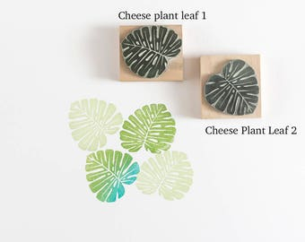 Cheese Plant Leaves Stamp