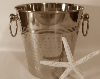 Vintage Champagne Ice Bucket; Silver Ice Bucket; Classic Champagne Bucket