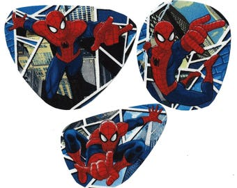 DIY 3 Spiderman iron on appliques