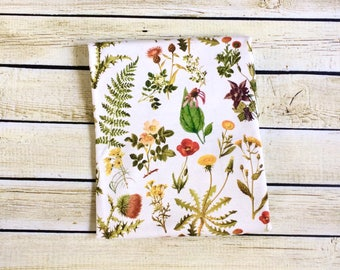 Organic Vintage Botanicals  Swaddle Blanket. Newborn, Baby Photo Prop, Baby Shower Gift, Swaddling Blanket