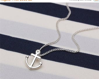 ON SALE Make a wish Friendship necklace chain with silver lucky anchor charm