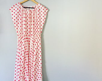 Vintage 1980s Polka Dot Dress