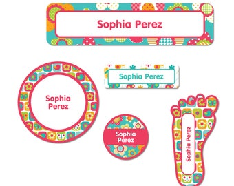 Party Favor Label Pack, All Things Spring