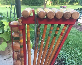 Vintage Croquet set for six  players
