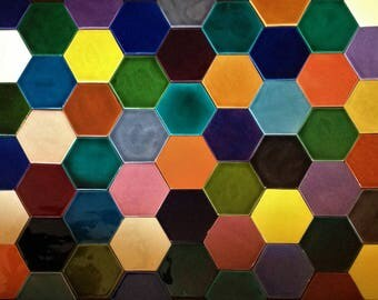 1 x Hexagonal Tile -  available in 55 colours