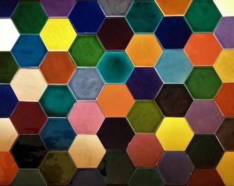 hexagonal tiles 55 colours
