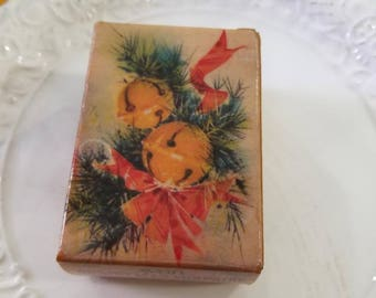 Vintage Avon Stocking Ornament/ Moonwind Perfume Bottle With Box