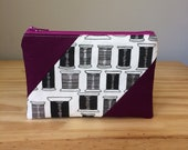 Zipper Pouch, Spools, Spools of Thread, Thread Pouch, Sewing Pouch, Sewing Supplies Pouch, Back Thread Pouch, Purple Pouch