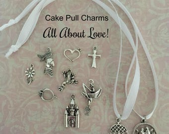 Cake Pull Charms, Wedding Cake Pulls, All About Love Set Cake Charms/Pulls!