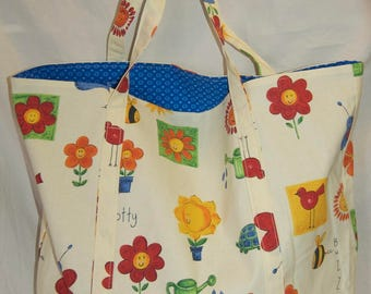 Bees and Flowers Tote Bag