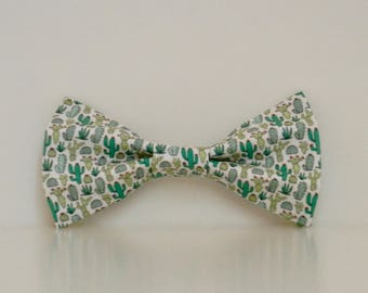 Cactus Green Summer Dog Bow Tie Wedding Accessories Made to Order