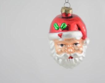 Vintage Christmas Ornament Glass Santa Claus Christmas Ornament Box 13