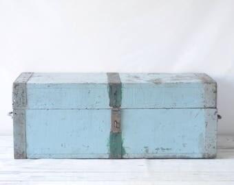 Vintage Carpenters Box Coffee Table Wood Carpenters Toolbox