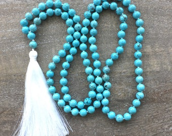Blue Howlite Mala