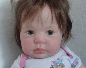 """Reborn 21"""" Baby Girl Doll """"Crystal"""" from Donna Rubert sculpt- life like! chubby!"""