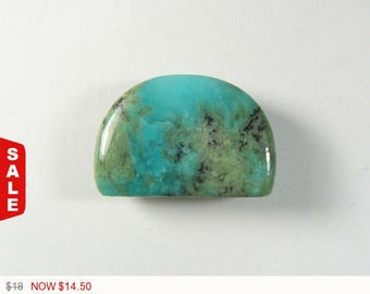 20% OFF Amazonite with Diopside Cabochon, 18x26.6x5 mm, designer cabochon, gemstone cabochons, flat back cabochons, natural stone cab (am420