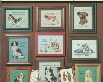 """Clearance - """"Tailwaggers #1"""" Counted Cross Stitch by Jeanette Crews Designs, Inc."""