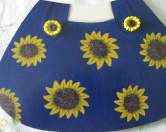 Sunflower outfit, sunflower, seasonal bear, seasonal,  welcome bear, wall hanging, door hanging,