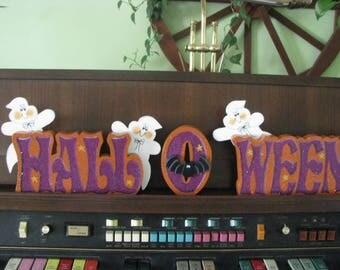 Halloween blocks, ghosts, bat, Halloween, shelf sitter, gifts for her, blocks