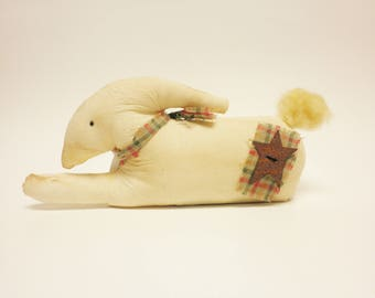 Primitive Rabbit, Easter Decor, Fabric Bunny, Spring Decorations, Country Farmhouse Decor