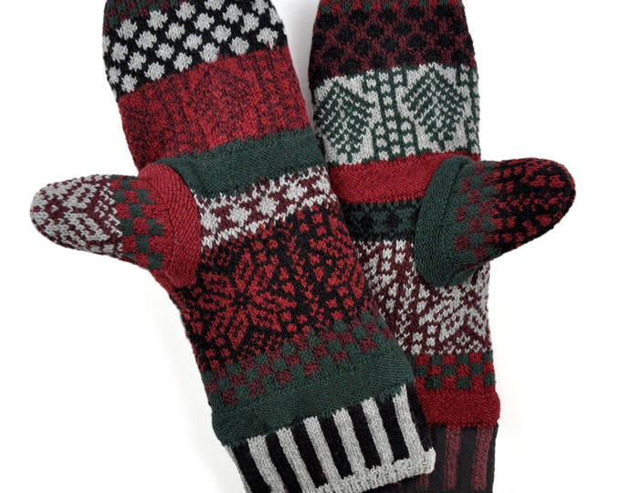 Solmate Accessories - Poinsettia Fleece Lined Mittens Limited - Available to order through midnight November 27th!