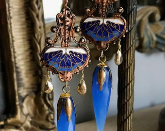 Vintage Earrings/ Art Nouveau Earrings