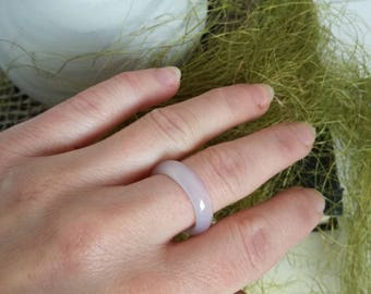 White  Agate RING, Natural stone ring,  statement ring, natural stone ring , One of a kind, Hand made