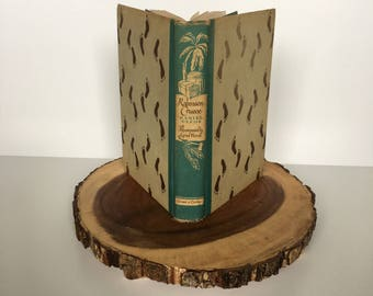 Robinson Crusoe by Daniel DeFoe, 1946 Grosset & Dunlap Vintage Special Edition, Illustrated Junior Library, FREE SHIPPING!