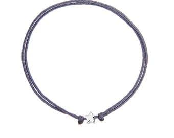 ARLET handmade sterling silver & string bracelet
