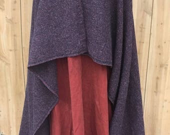 wikinger umhang dunklen wolle mantel platz mantel nordischen mantel anglo saxon mantel - Mantel Der Ideen Mit Uhr Verziert