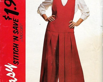 McCall's Stitch 'N Save 6650 Misses Blouse And Split Skirt Jumper Pattern, Size 6-12 & 14-20, UNCUT