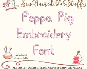 Peppa Pig Machine Embroidery font