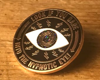 HypNotic Eye Patch Hard Enamel Pin Cryptozoology Lapel Metaphysical Hypno Hypnosis Crystal Ball Plam Reading Reader Mind Mentalism Magic