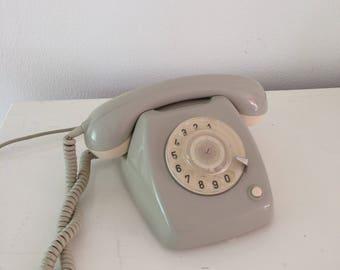 Vintage grey rotary dutch telephone