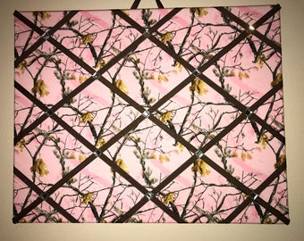 Pink camo with bling photo/ memo board