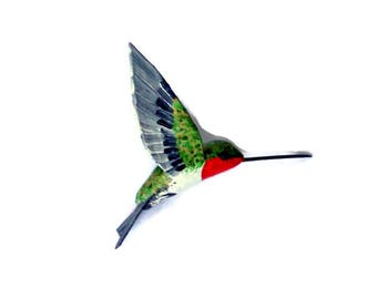 Hummingbird decoration Art  Sculpture Paper mache Bird ornaments