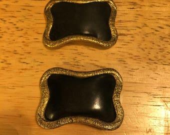 Black & Gold Trim Musi Shoe Clips