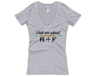 Rodan and Fields Shirts Short Sleeve Soft Wash V Neck Grey Ask Me About R+F R+F Swag Incentives Team Wear